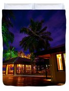Night Lights at the Resort Duvet Cover by Jenny Rainbow