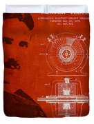 Nikola Tesla Patent from 1891 Duvet Cover by Aged Pixel