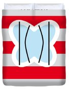 No098 My Papillon Minimal Movie Poster Duvet Cover by Chungkong Art
