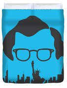 No146 My Manhattan Minimal Movie Poster Duvet Cover by Chungkong Art