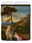 Noli Me Tangere Duvet Cover by Titian