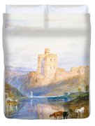 Norham Castle An Illustration To Marmion By Sir Walter Scott Duvet Cover by Joseph Mallord William Turner