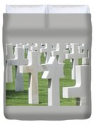 Normandy American Cemetery Duvet Cover by HEVi FineArt