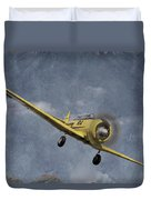 North American T6 Vintage Duvet Cover by Debra and Dave Vanderlaan