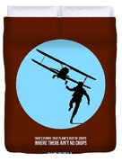 North By Northwest Poster 2 Duvet Cover by Naxart Studio
