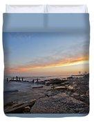 North Point Sunset Duvet Cover by CJ Schmit