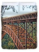 Northeast Close-up Of New River Gorge Bridge Duvet Cover by Timothy Connard