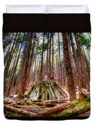 Northwest Old Growth Duvet Cover by Spencer McDonald