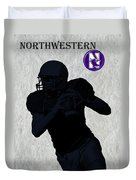 Northwestern Football Duvet Cover by David Dehner
