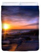 Norwegian Sunset Duvet Cover by Bruce Nutting