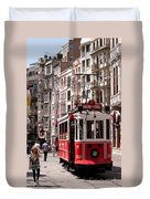 Nostalgic Tram 01 Duvet Cover by Rick Piper Photography