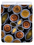 Not Your Mothers Button Box Duvet Cover by Jean Noren