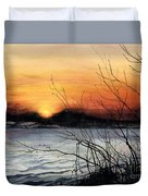 November Sunset Duvet Cover by Barbara Jewell