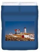 Nubble Lighthouse 3 Duvet Cover by Joann Vitali
