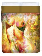 Nude Details - Digital Vibrant Color Version Duvet Cover by Emerico Imre Toth
