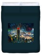 Nyc In Fourth Of July Independence Day Duvet Cover by Ylli Haruni
