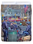 Nypd Highway Patrol Duvet Cover by Ron Shoshani