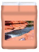 Oak Creek At Slide Rock Duvet Cover by Carol Groenen