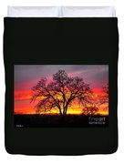Oak Silhouette Duvet Cover by Cheryl Young