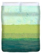 Ocean Blue and Green Duvet Cover by Michelle Calkins