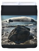 Ocean Boulder Duvet Cover by Adam Jewell