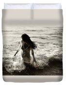 Ocean Mermaid Duvet Cover by Jenny Rainbow