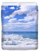 Ocean Surf Duvet Cover by Elena Elisseeva