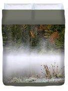 October Frost Landscape Duvet Cover by Christina Rollo