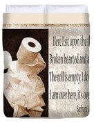 Ode To The Spare Roll Sepia 2 Duvet Cover by Andee Design