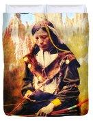 Oglala Homeland Duvet Cover by Lianne Schneider