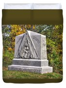 Ohio At Gettysburg - 29th Ohio Volunteer Infantry Autumn Mid-afternoon Culp's Hill Duvet Cover by Michael Mazaika