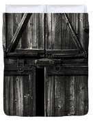 Old Barn Door - BW Duvet Cover by Paul W Faust -  Impressions of Light