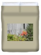 Old Barn In Fall Duvet Cover by Keith Webber Jr