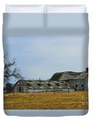 Old Barns In The Heartland Duvet Cover by Alys Caviness-Gober