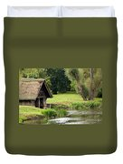 Old Boathouse Duvet Cover by Rick Piper Photography