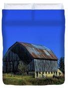 Old Broken Down Barn In Ohio Duvet Cover by Dan Sproul