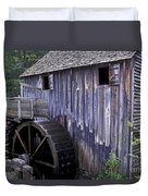Old Cades Cove Mill Duvet Cover by Paul W Faust -  Impressions of Light