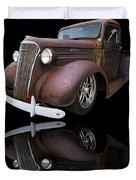 Old Chevy Duvet Cover by Debra and Dave Vanderlaan