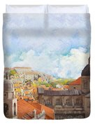 Old City Of Dubrovnik Duvet Cover by Catf