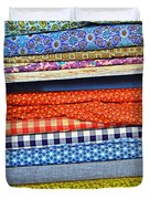 Old Country Store Fabrics Duvet Cover by Christine Till