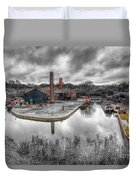 Old Dock Duvet Cover by Adrian Evans