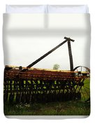 Old Farm Equipment Duvet Cover by Jeff Swan