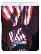 Old Glory In Vegas Duvet Cover by John Malone