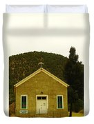 Old Lincoln City Church Duvet Cover by Jeff Swan