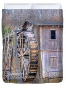 Old Mill Water Wheel and Sluce Duvet Cover by Douglas Barnett