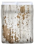 Old Painted Wood Abstract No.3 Duvet Cover by Elena Elisseeva