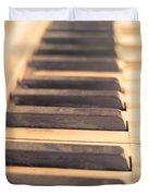 Old Piano Keys Duvet Cover by Edward Fielding