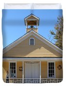 Old Sacramento California Schoolhouse 5D25544 Duvet Cover by Wingsdomain Art and Photography