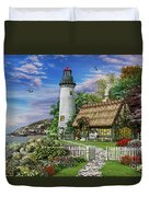 Old Sea Cottage Duvet Cover by Dominic Davison
