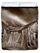 Old Shack Bodie Ghost Town Duvet Cover by Steve Gadomski